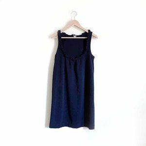 J. Crew pique Pavilion ruffle neck tank dress